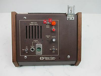 Clear-Com Intercom Systems KB-111A Speaker Station Desk Top Unit Wood Case