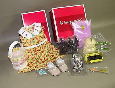 American Girl Kit Floral Print Dress Outfit + Homemade Sweets Set Easter Nib