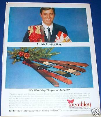 1963 JERRY LEWIS photo Wembley Tie Christmas Ad