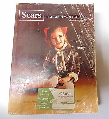 1968 Sears Fall Winter Catalog Little Torn and Well Used Not Bad
