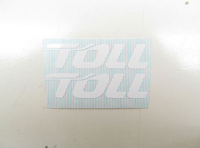 'TOLL' DECALS - WHITE suit 1/50 SCALE TRAILERS - COMPUTER-CUT VINYL