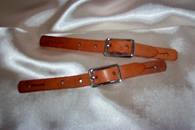 Western Horse - Kids Plain Spur Straps - Medium Tan