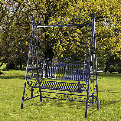 schaukel hollywoodschaukel gondel 1868 aus metall schmiedeeisen gartenschaukel eur 299 99. Black Bedroom Furniture Sets. Home Design Ideas