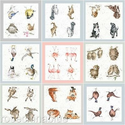 Wrendale Designs Countryside Animal Paper Cocktail Napkins Pack Of 20