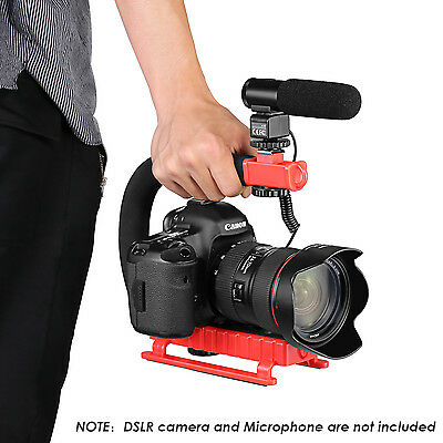 C-Shape Versatile Stabilizing Action Handle Bracket with hot shoe