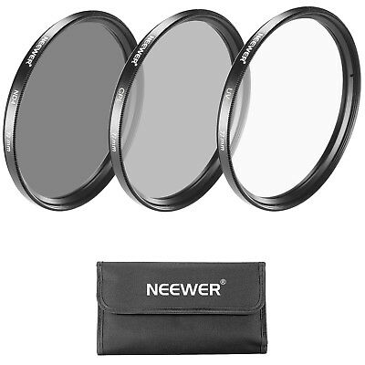 Neewer Kit Filtri 77mm per Obiettivo: UV/CPL/ND4 + Custodia per Canon Nikon