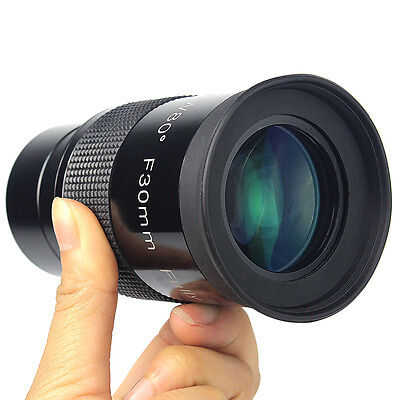 """2"""" Focal 30mm Ultra Wide Angle 80° Telescope Eyepiece w/ Thread for 49mm Camera"""