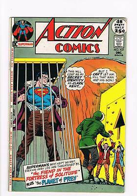 Action Comics # 407 The Fiend in the Fortress of Solitude ! grade 4.5 scarce !!