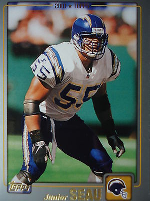 NFL 67 Junior Seau San Diego Chargers Topps 2001