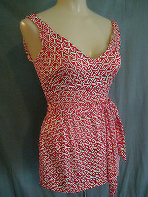COLE of California vtg 60s 70s Swimsuit sz S C cup swimdress skirt one piece
