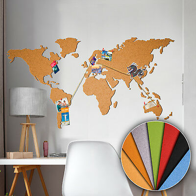 WORLD MAP SELF-ADHESIVE CORK BOARD – SOMETHING – MULTISTICK! - CORK - 8 Colorus