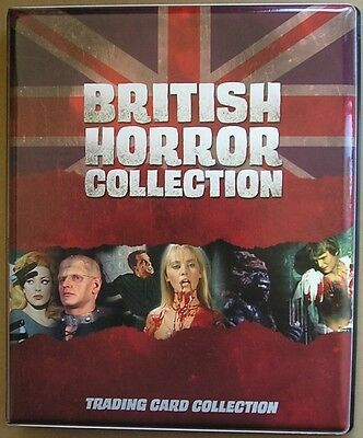 British Horror Collection Trading Card Binder c/w 92 Base + 18 Chase + Promo's