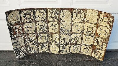 2x4 Antique Ceiling Tin Vintage Reclaimed Salvage Art Deco Metal Tile Flower Art