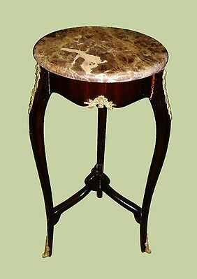 Excellent Marble top Louis XV style side table