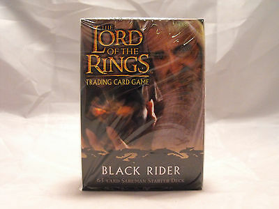Lord Of The Rings Tcg Black Rider Sealed Saruman Starter Deck