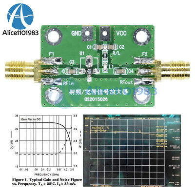0.1-2000MH​z RF Wideband Amplifier 30dB low-noise LNA Broadband Module Receiver
