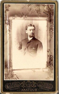 CDV photo Herrenportrait - Wien & Stockerau 1880er