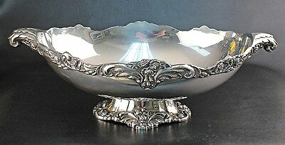 "Lunt Eloquence Silver Plated 17"" Footed Centerbowl"