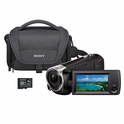 Sony HDR-CX440 8GB Wi-Fi 60p HD Camcorder Bundle w/ Carrying Case 16GB SD Card