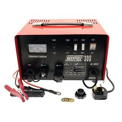 20 A Amp Battery Charger 12 & 24 V Volt Maypole MP730 Metal Cased Car Tractor