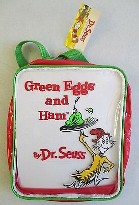 New With Tags Dr. Seuss Sam I Am Green Eggs And Ham Children's Backpack Nwt