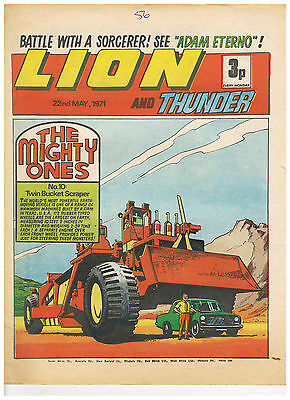 LION and THUNDER COMIC: 22nd MAY 1971:  VERY GOOD CONDITION