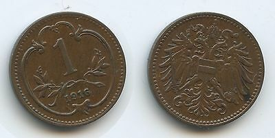 £4128 - Austria 1 Heller 1916 Shield on Eagle KM#2823 XF Condition Scarce