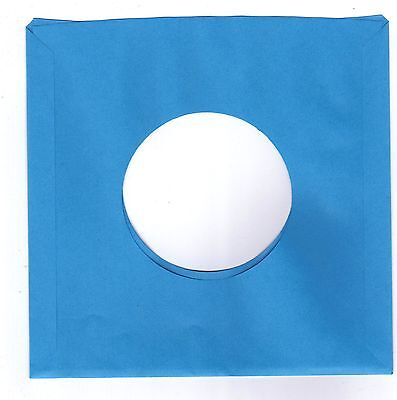 45rpm Paper Sleeves:  LOT of  THIRTY SOLID BLUE record sleeves