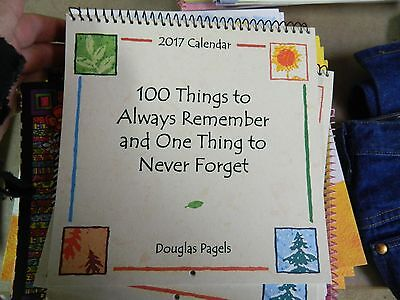 Blue Mountain Art NEW 2017 Free Shipping Calendar SMALL 100 things PAGELS