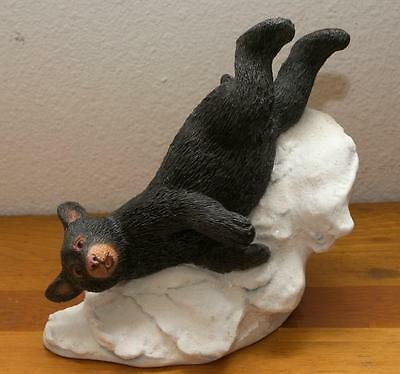 Country Artists Natural World - Black Bear Cub Playing in Snow - Retired - NIB