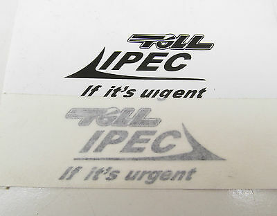 'TOLL IPEC' DECALS - suit 1/50 SCALE TRAILERS - COMPUTER-CUT VINYL