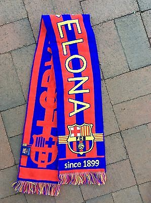 SCARF BARCELONA FC SINCE 1899 Made in Spain 100% Polyester near new