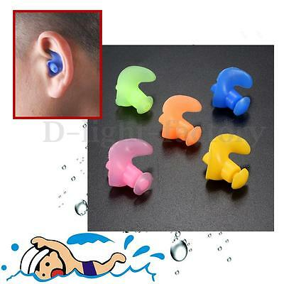 2x Waterproof Soft Silicone Swimming Swim Diving Water Sport Ear Plug Protector