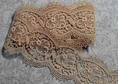 2 Yds Exquisite Vintage Off White Insert Lace