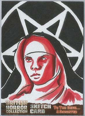 British Horror Collection Sketch Card created by Mike McHugh [ 1 ]