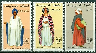 Morocco Scott #198A-200 MNH Regional Costumes As Imaged CV$3+