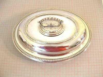Good Quality Antique Entre Dish   Silver Plated Epns Serving Tureen