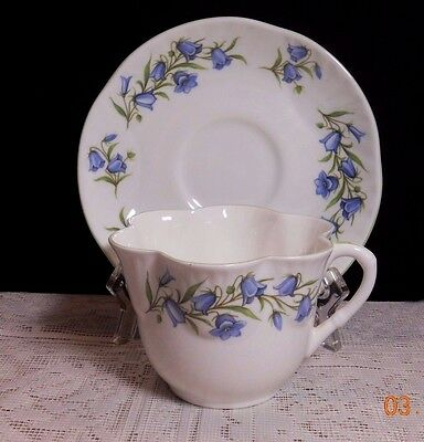 "Crown Staffordshire England ""bluebell"" Cup & Saucer"