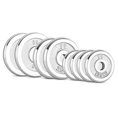 CAPITAL SPORTS CP 20 kg BARBELL WEIGHT DISC SET IRON PLATES CHROME PLATES GYM