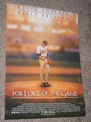 "FOR LOVE OF THE GAME ""A"" 27x40 ORIGINAL D/S MOVIE POSTER"