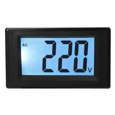 Two-wire AC 20-500V Blue LCD Voltmeter Voltage Panel Volt Meter 220V 380V MA1113