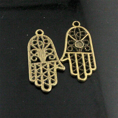 Antique Bronze Hand Tibetan Silver Charms Pendants Jewelry Finding Alloy Pendant