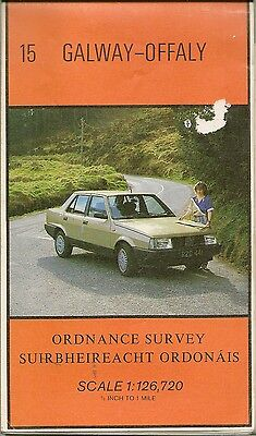 Ordnance Survey 1/2 inch Map No 15 GALWAY, OFFALY - 1990