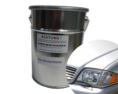 3 L. Ready To Use Basic Paint Mercedes 744 Brilliant Silver Met. Car Lackpoint
