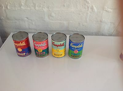 Andy Warhol Limited Edition Set Of 4 Campbell's Soup Tins. Set B