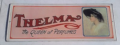 """Vintage 1974 Thelma """"the Queen Of Perfumes"""" Metal Sign"""