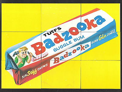 1974 Topps Wacky Packages 10th Series 10 Puzzle Checklist 9 Card Set With Pupsi