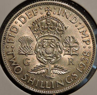 British Florin - 1938 - Big Silver Coin - $1 Unlimited Shipping