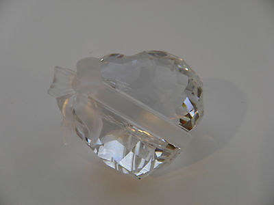 Swarovski Crystal Puffy Heart With Ribbon Bow Paperweight