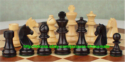 New Rare Ebony Wood Intricately Handcarved Handmade Chess Set!!!!!!